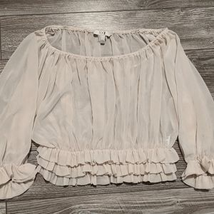 ⭐BOGO⭐ Forever 21 Ruffle Crop Top Small